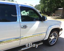 03-06 Chevy Silverado/Sierra Crew Cab Body Side Molding Trim Overlay Chrome 3.5