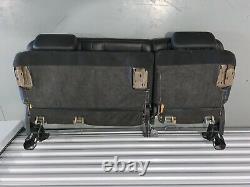 07-13 Chevy Silverado GMC Sierra Crew Cab Seats Black Leather Rear Bench 2nd Row