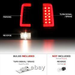 07-13 Silverado Black Clear Lens LED Bar Brake Tail Lamp License Plate Tag Light