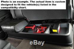 07-13 Silverado Sierra Crew Cab Husky Liner Gearbox Under Seat Storage Box 09001