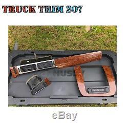 07-13 Silverado Tahoe Suburban Sierra Woodgrain Dash Bezel Trim Set Oem Ltz