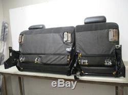 07-14 Chevy Sierra Silverado Crew Left Right 60/40 Bench Rear Seat Leather Oem