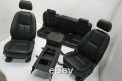 07-14 Chevy Silverado Seats GMC Sierra Crew Cab Seat Set Black Leather Power