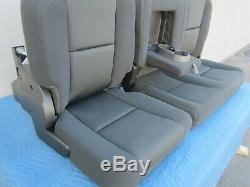 07 2014 Sierra / Silverado Crew Cab 1500 3500 Rear Black Cloth Seat #313-1n