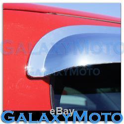 14-16 Chevy Silverado 1500 CREW CAB Chrome 4 Door Window Visor Rain Sun Guard