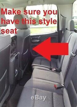 14-16 Chevy Silverado Crew Cab Leather Black Seat Covers GM Gun Ammo