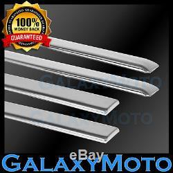 14-16 GMC Sierra 1500 Crew Cab 4pcs 4 Door Chrome Body Side Molding Front+Rear