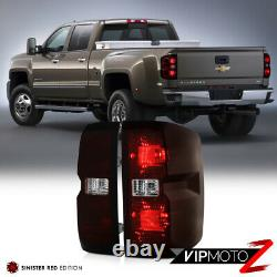 14-18 Chevy Silverado 1500 2500 3500 Smoke Red Tinted Tail Light Lamp Left Right