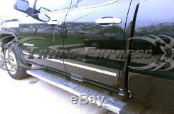 14-18 Silverado/Sierra Crew Cab Overlay Body Side Molding Trim Stainless Steel
