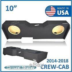14-2018 Chevy Silverado Gmc Sierra Crew Cab Truck Sub Box 10 Dual Sub Enclosure