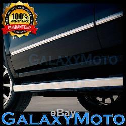 15-16 Chevy Silverado 2500+3500 Crew Cab Chrome Body Side Molding Front+Rear Set