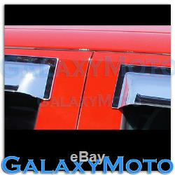 15-16 GMC Sierra 2500+3500 HD CREW CAB Chrome 4 Door Window Visor Rain Sun Guard