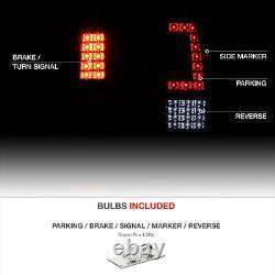 1999-2002 Chevy Silverado GMC Sierra 1500 2500 3500 RED LED Parking Tail Lights