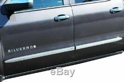 1999-2006 Chevy Silverado GMC Sierra 1500 (Crew Cab) Chrome Bodyside Molding 2