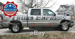 1999-2006 Chevy Silverado/Sierra Crew Cab Body Side Molding Trim Chrome 2