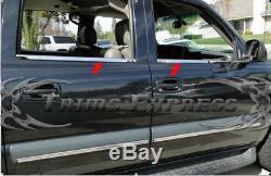 1999-2006 Chevy Silverado/Sierra Crew Cab Chrome Window Sill Stainless Steel