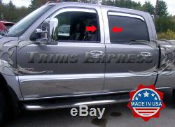 1999-2006 Silverado/Sierra Crew Cab 4Pc Pillar Post Chrome Trim Stainless Steel