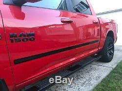 19-20 Silverado / Sierra 1500 Crew Cab Body Side Molding Glossy Shiny Black Trim