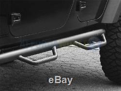 2001-2007 Classic Silverado/Sierra Crew Cab 3in N-Fab Nerf Bars Steps Textured