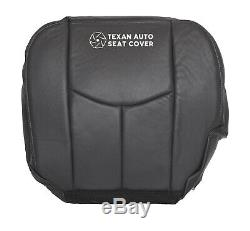 2003-2005 GMC Sierra 2500HD Crew Cab Driver Bottom Leather Seat Cover Dark Gray