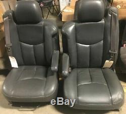 2003-2007 Charcoal Set of Seats Crew Cab Chevy Silverado GMC Sierra 2500 3500 HD