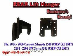 2004 2006 Chevy Silverado GMC Sierra CREW CAB 1 2 Lift Hanger for Flip Kit