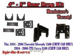 2004 2006 Chevy Silverado GMC Sierra CREW CAB 4 5 REAR Drop KIT