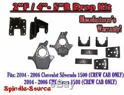 2004 2006 Chevy Silverado GMC Sierra CREW CAB ONLY 2/4 2/5 DROP KIT