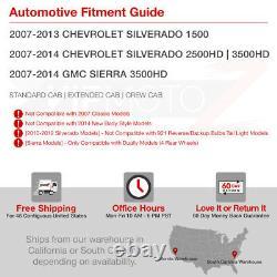 2007-2013 Chevy Silverado 1500 2500 3500 HD Smoke LED Signal Tail Lights SET L+R