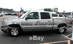 2007-2013 Chevy Silverado Crew Cab Long Bed Flat Body Side Molding Trim 1.5