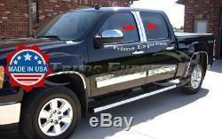 2007-2013 Chevy Silverado/Sierra Extended/Crew Cab Pillar Post Trim 4Pc