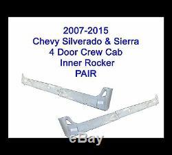 2007 2015 Chevy Silverado Sierra 4DR Crew Cab Inner Rocker Panels New Pair