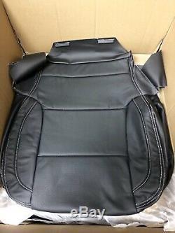 2014 2015 2016 2017 Chevy Silverado Sierra Crew Katzkin leather seat cover set