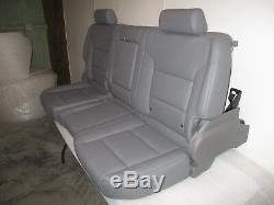 2014-2018 Chevrolet Silverado Crew Cab Gray Pleather Rear Seat New! Save$$$$$