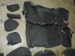 2014-2018 Silverado Sierra CREW Cab ONLY BLACK Dark Cloth Seat Covers NEW 6