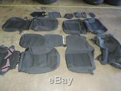 2014-2018 Silverado Sierra CREW Cab ONLY BLACK Dark Cloth Seat Covers NEW 9