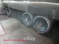 2014-2018 Silverado/Sierra Crew Cab 4x8 Front Fire Subwoofer Box by Subthump