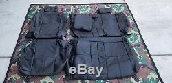 2014-2018 Silverado/Sierra Crew Cab LT Black Leather REAR Seat Cover Kit
