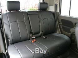 2015-2018 Chevy Silverado Gmc Sierra Crew Cab Clazzio Leather Seat Cover (1+2)