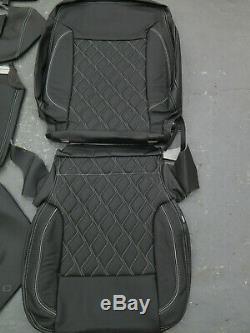 2015-2018 Chevy Silverado Sierra Crew Katzkin leather seat cover set Custom
