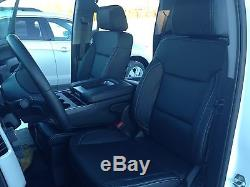 2018 Chevrolet Silverado Sierra Crew Cab Katzkin Leather Seat Covers Cover Black
