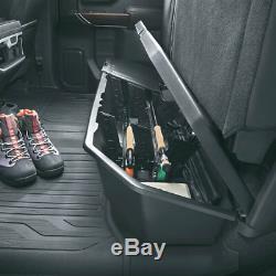2019-2020 Silverado Sierra Crew Cab Underseat Storage Box 84734683 Black OEM GM