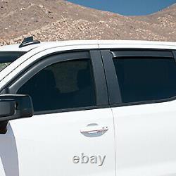 2019-21 Sierra/Silverado Crew Cab Door Window Deflectors GM OEM NEW 19417480