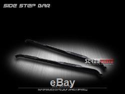 3 Tube Blk HD Side Step Nerf Bars Running Boards 07+ Silverado/Sierra Crew Cab