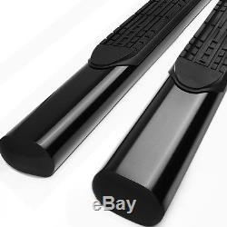 4Black Oval Side Step Nerf Bar/Running Board for 01-16 GMC Sierra Crew Cab 4dr