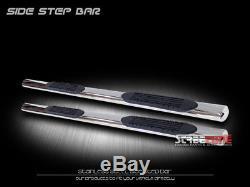 4 Chrome Side Step Nerf Bars Rail Running Board 01-18 Silverado/Sierra Crew Cab