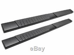 6 OE Aluminum Black Side Step Running Boards 07-18 Silverado Crew Cab Bar+Cover