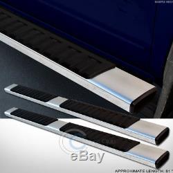6 Oe Style Aluminum Side Step Rail Running Boards 07+ Silverado/sierra Crew Cab
