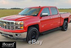 6 iBoard Running Boards Nerf Bars Fit 01-13 Chevy Silverado/GMC Sierra Crew Cab