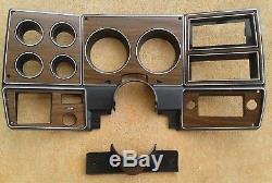 73-80 chevy GMC NEW pickup truck dash bezel gauge cluster cover woodgrain wood